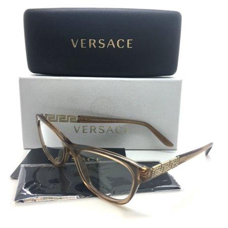 Versace New Authentic Tan Female Eyeglasses MOD VE 3212B 617 52 16 140 (52 16 140 Brille)