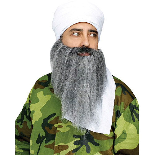 Turban Beard Adult Halloween Instant Costume - One Size