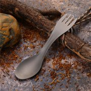 Keenso Spoon Fork Combo, Portable Camping Utensil, For Household Use Camping Travel Backpacking, Hiking, Outdoors