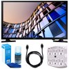Samsung UN32M4500 32-Inch 720p Smart LED TV (2017 Model) w/ Accessories Bundle Includes, 6ft High Speed HDMI Cable - Black, SurgePro 6-Outlet Surge Adapter w/ Night Light and LED TV Screen Cleaner E2SAMUN32M4500 UN32M4500 32 Smart LED HDTVStandPower CordUser GuideDocumentationBundle Includes:Samsung 32-Inch 720p Smart LED TV (2017 Model)6ft High Speed HDMI Cable - BlackUniversal Screen Cleaner (Large Bottle) for LED TVsSurgePro 6 NT 750 Joule 6-Outlet Surge Adapter with Night LightBring all your favorite TV shows, movies, games, and media content to life in vivid, vibrant HDTV display with amazing details over standard definition TV. Access all your favorites with intuitive Smart TV features and Wi-Fi Built In for a more interactive, more connected home entertainment experience. Product Features: Picture Quality HD 720P: Enjoy a viewing experience with 2x the clarity and detail.Motion Rate 60: Enjoy a clear moving picture resolution at Motion Rate 60 with amazing refresh rate, processing speed and backlight technology.Wide Color Enhancer: See every image as the director intended with enriched colors - even with older, non-HD content. Smart Quad-Core Processor: Enjoy a fluid browsing experience and faster control - switching between apps, streaming content, and other media effortlessly.Smart TV: Access your favorite program choices, live TV, video on demand, apps, and social media in one easy-to-browse navigation experience.Full Web Browser: Easily browse the web right on your TV - enjoy everything from online shopping and social media to entertainment news.TV to Mobile Mirroring: Leave the TV viewing area and continue watching a movie on your phone or tablet.Mobile to TV Mirroring, DLNA: Cast pictures and videos from your phone and tablet to the TV.Wireless TV On - Samsung WOL: Activates the ability of a Smart Home Controller to turn the TV ON from standby via Wi-Fi.Wired TV On - Samsung WOL: Activates the ability of a Smart Home Controller to turn the TV ON from st