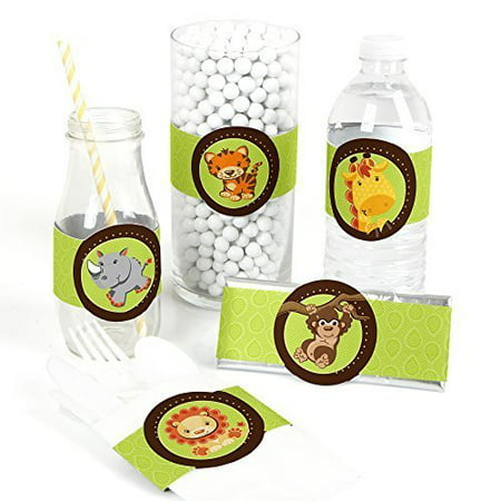 Funfari - Fun Safari Jungle - DIY Party Wrapper Favors - Set of 15