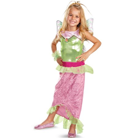 Winx Club Flora Mermaid Classic Child Costume - Winx Costume Bloom