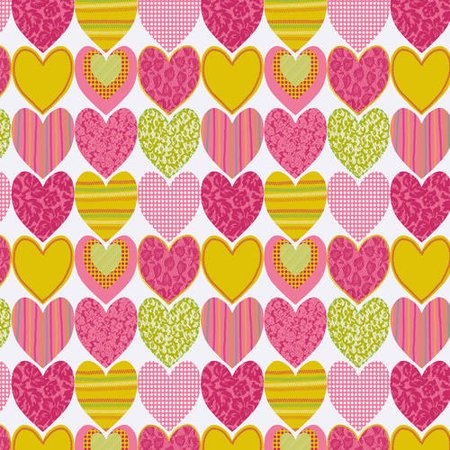 "Waverly Inspirations Cotton 18"" x 21"" Fat Quarter Hearts Magenta Fabric, 1 Each"