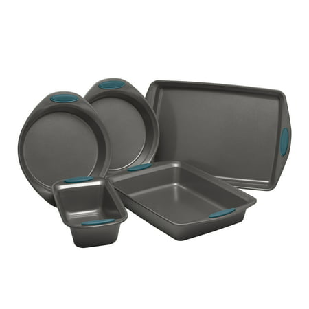 Rachael Ray Yum-o! Nonstick Oven Lovin' Bakeware Set, 5-Piece Set, Marine Blue (Toaster Oven Bakeware Sets)