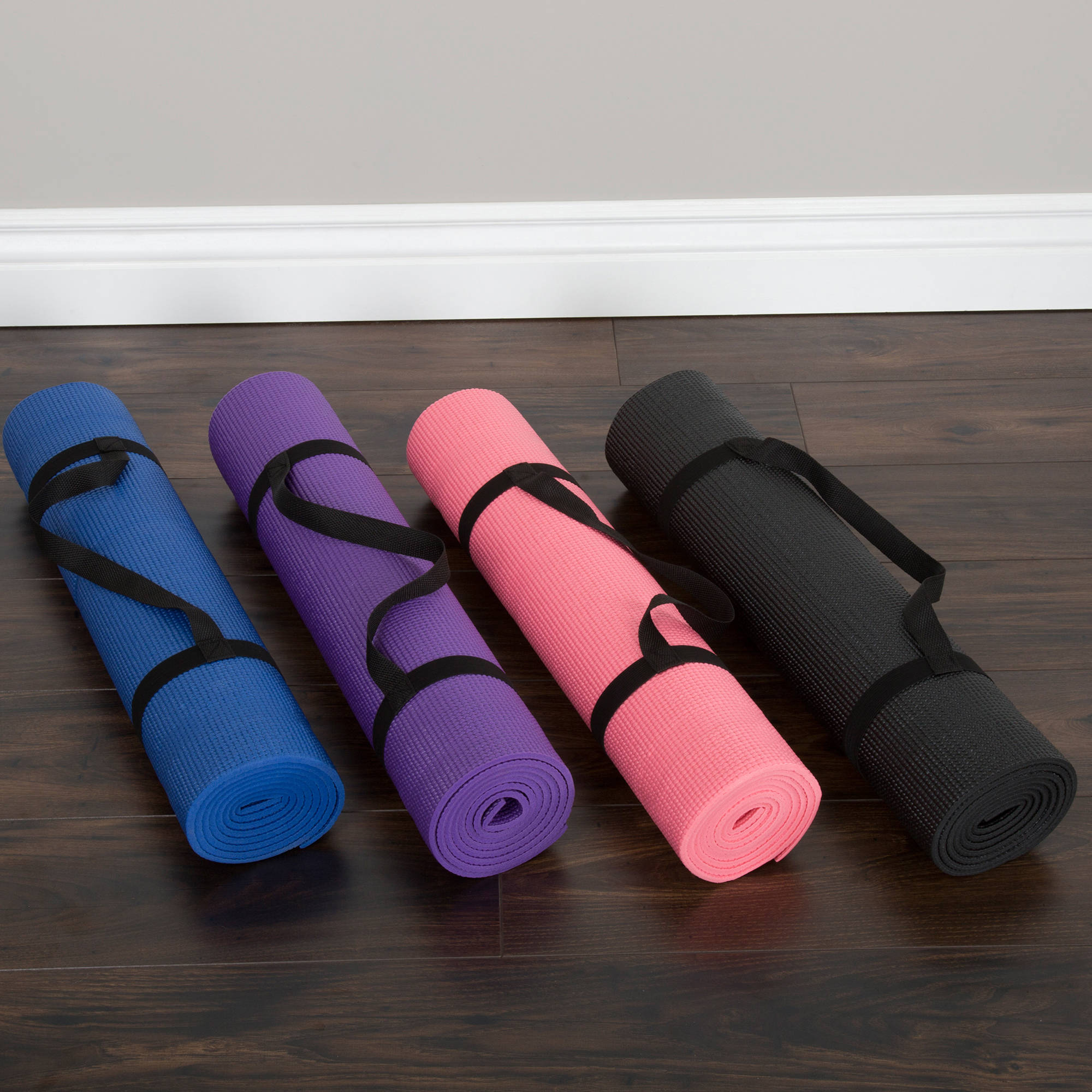 Wakeman Fitness Double-Sided Yoga Mat, Available in Various Colors