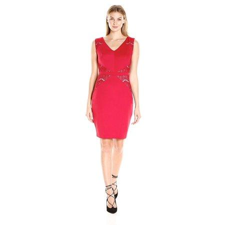 Jax Lace Inset Sleeveless Sheath Dress