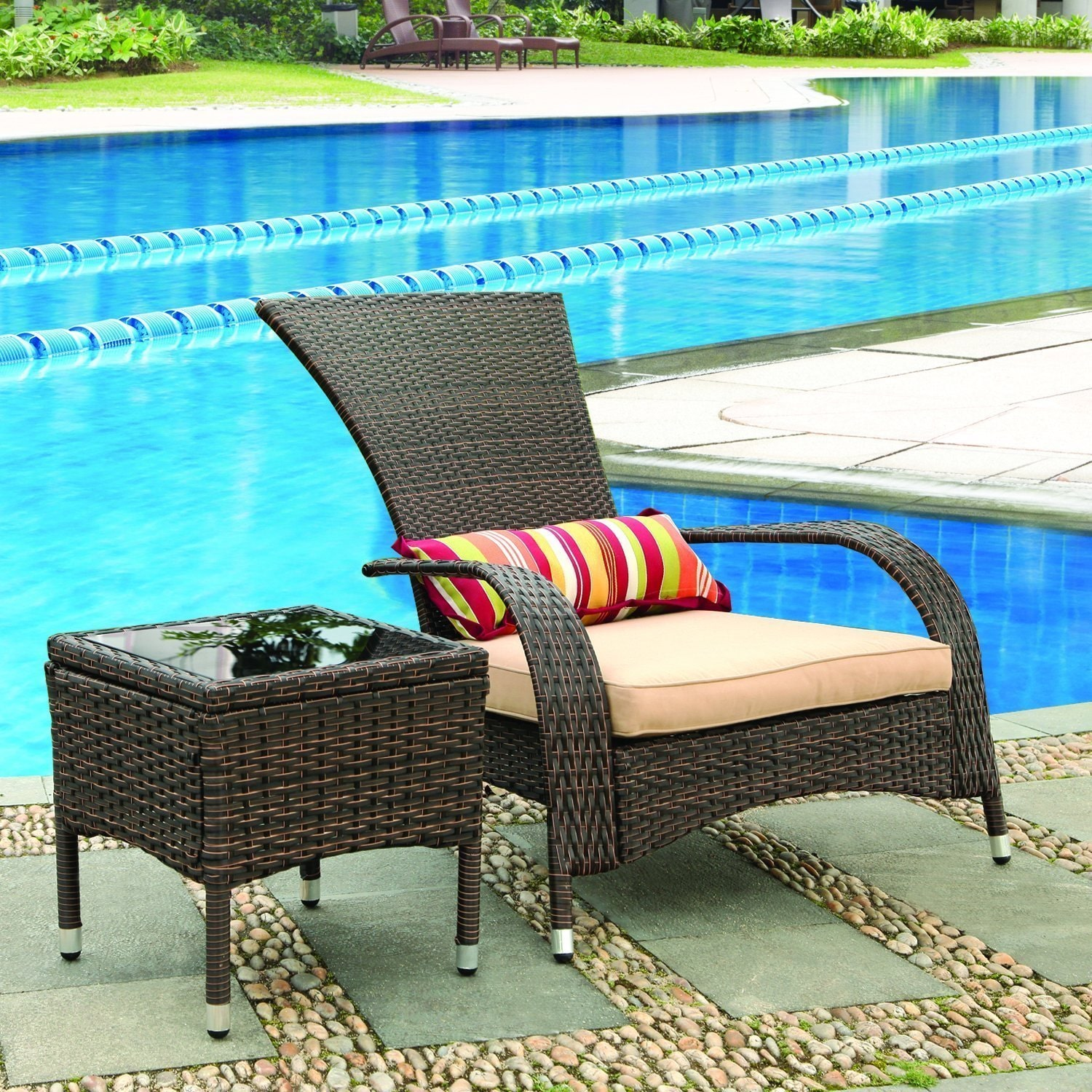 Adeco Wicker Chair by Overstock