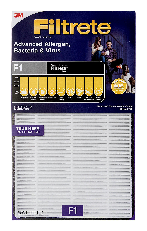 filtrete advanced allergen bacteria virus true hepa room air purifier filter  walmartcom