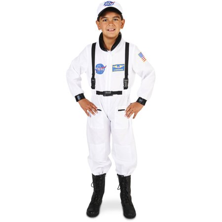 White Astronaut Suit Child Halloween Costume](Astronaut Costum)