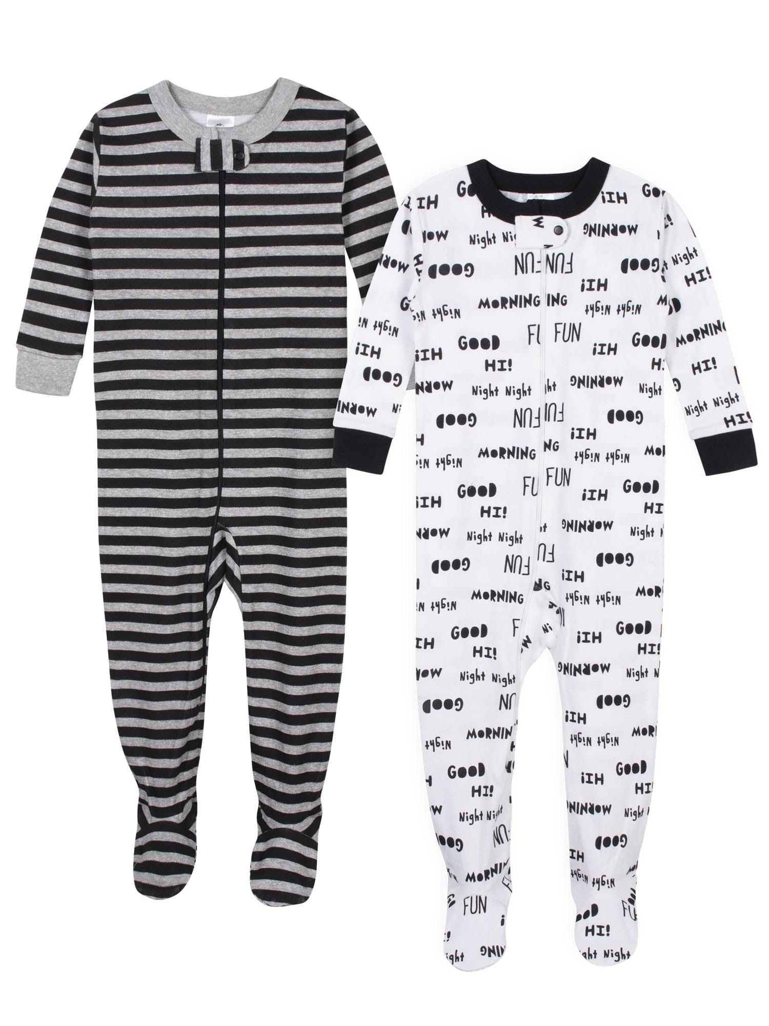 All Over Print Fisher-Price Baby Boys Sleeper Sleepwear 6M White