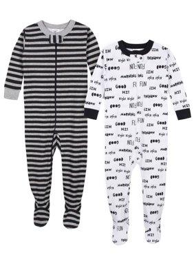Gerber Baby Boy Organic Cotton 1pc Sleeper Pajamas, 2-Pack