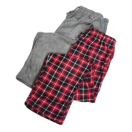 Microfleece Polar Fleece (Hanes Men's Microfleece Pajama Pant Set (Pack of 2) - Cozy Warm Mens Fleece Lounge Pants - 30 Day Guarantee - FREE SHIPPING )