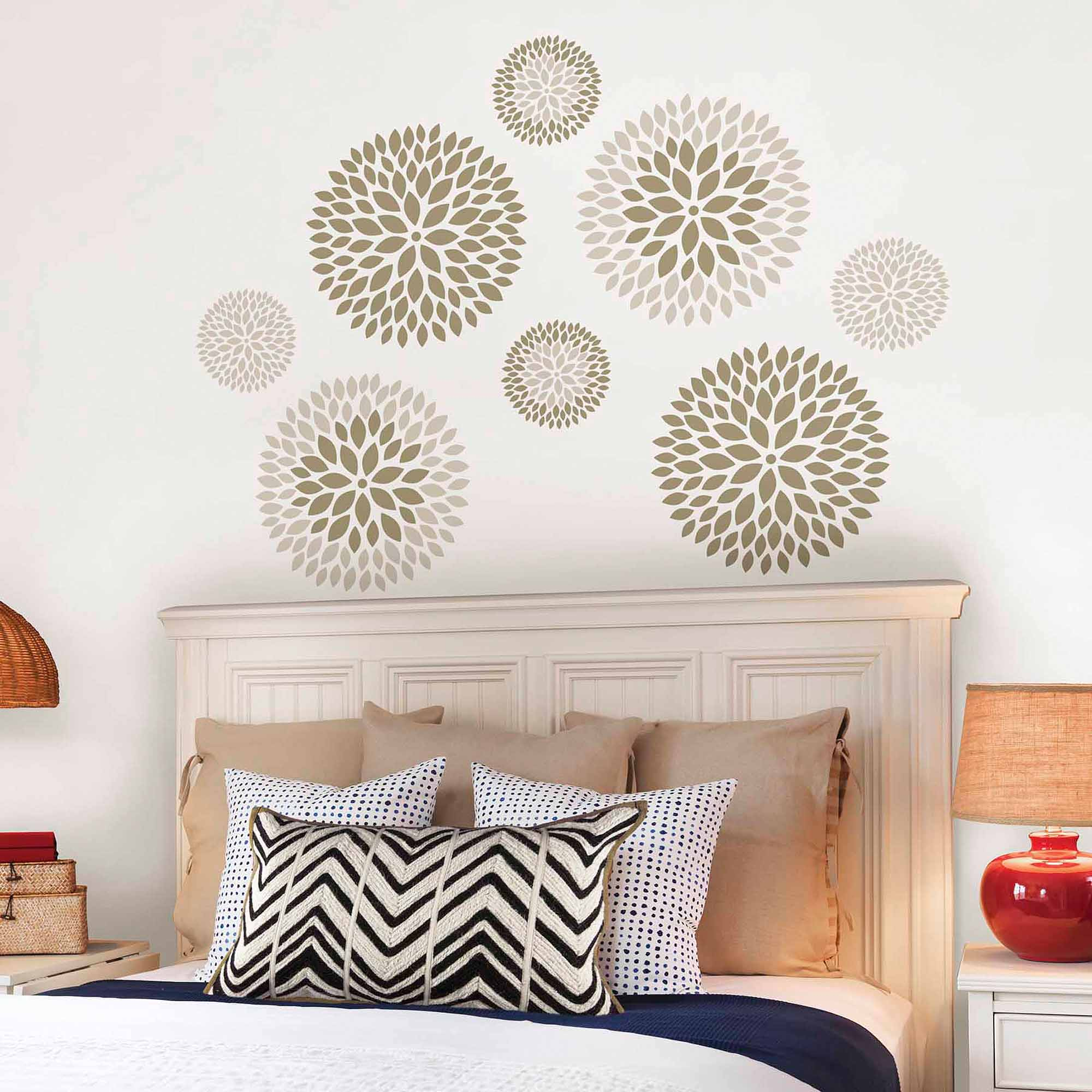 Captivating WallPops Chrysanthemum Wall Art Decals Kit   Walmart.com