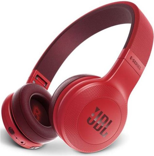 JBL E45BTRED Bluetooth Wireless On-Ear Headphones with Microphone - Red