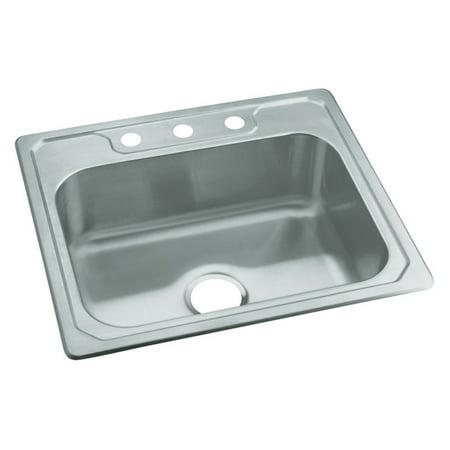 Sterling By Kohler Middleton 174 14631 3 Single Basin Drop In Kitchen Sink