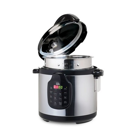 Elite Platinum 6Qt. Electric Stainless Steel Pressure Cooker w/ 11 Function Digital Display,