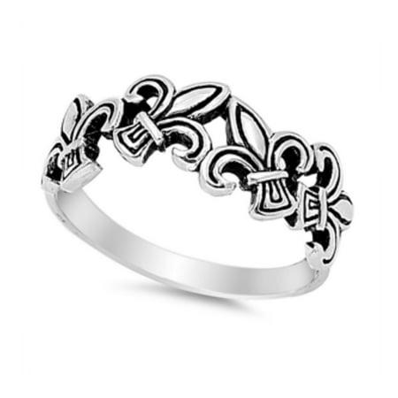 925 Sterling Silver Fleur De Lis Ring 925 Sterling Silver Fleur De Lis Ring : Silver Ring - Fleur De Lis