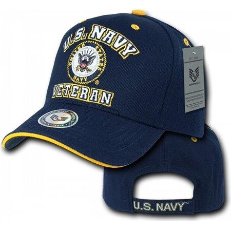 RapDom U.S. Navy Veterans Mens Cap [Navy Blue - Adjustable]
