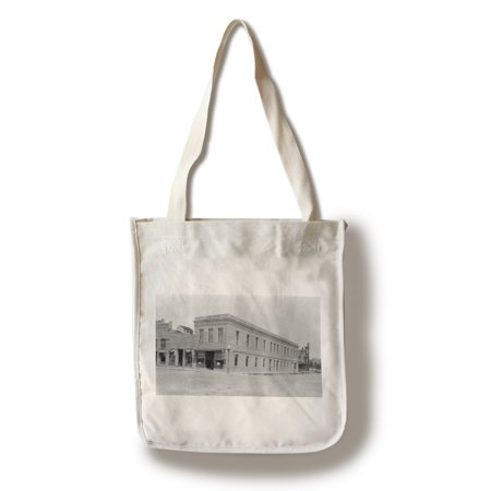 Columbus  Montana   Exterior View Of State Bank  100  Cotton Tote Bag   Reusable