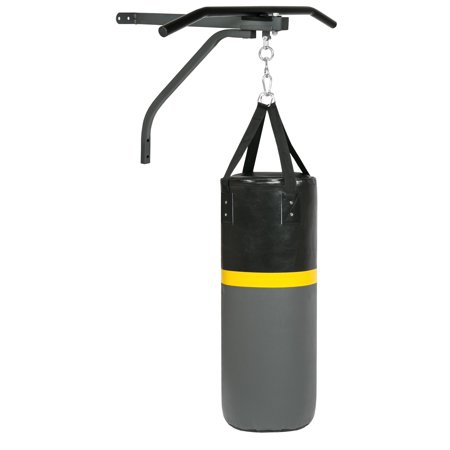 Best Choice Products 52lb Hanging Heavy Sand-Filled Punching Bag for Fitness, Training, Boxing w/ Wall-Mount Rack, Pull Up