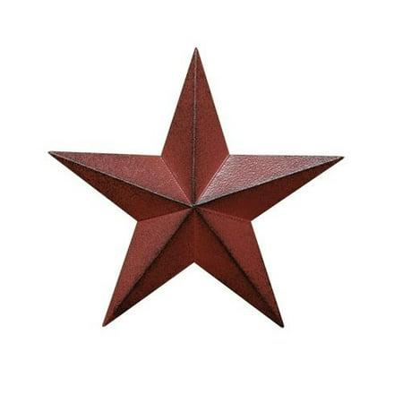 CWI Gifts G570755KRBA 4-Piece Barn Star Wall Decor Set, 5.5-Inch, - Barn Dance Decor