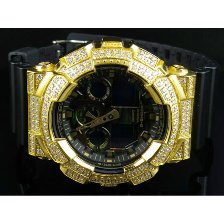 6eb74c10d84a Casio - G-Shock G-Shock 51 MM GA-100 Camouflage Simulated Diamond Watch 6  Ct - Walmart.com