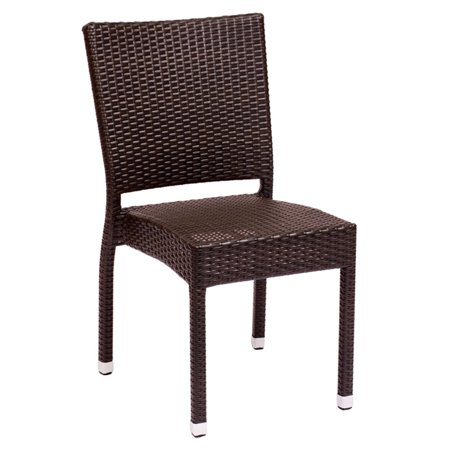 BFM Seating Monterey Aluminum Stackable Patio Side Chair