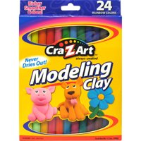 Cra-Z-Art Modeling Clay 24 Count of Beautiful Rainbow Colors