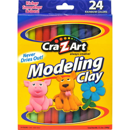 Harden Modeling Clay - Cra-Z-Art Modeling Clay 24 Count of Beautiful Rainbow Colors