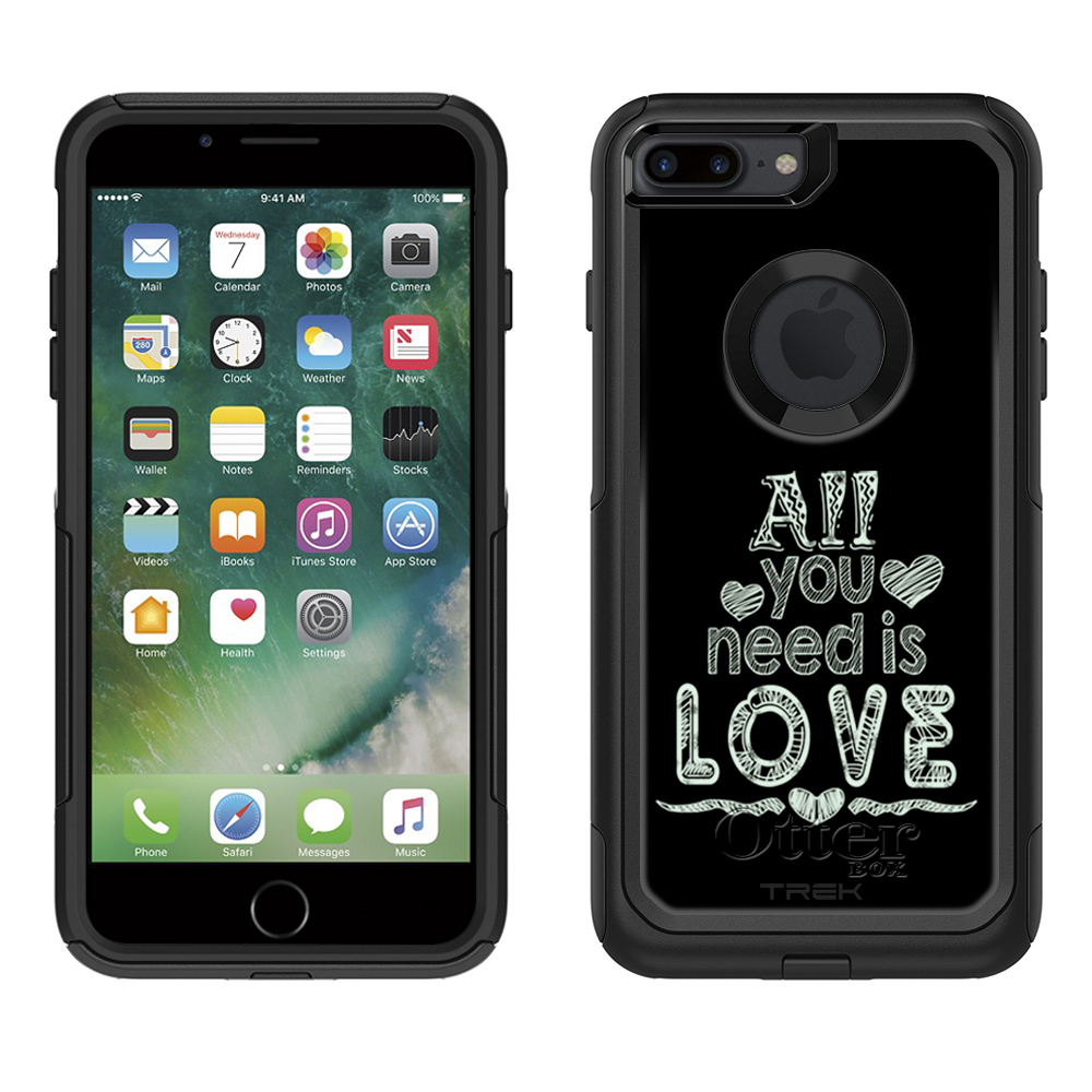 Otterbox Commuter Apple iPhone 7 Plus Case , All You Need is Love Chalk  Apple iPhone 7 Plus OtterBox Case