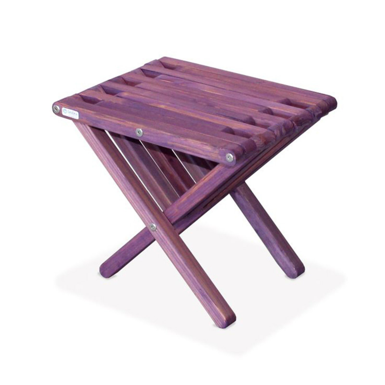 GloDea Xquare X36 Short Wooden Patio End Table