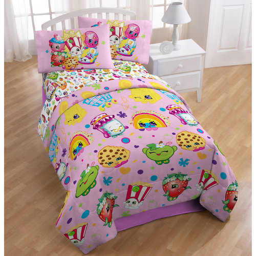 Shopkins Bed in a Bag 5 Piece Twin Bedding Set with BONUS Tote