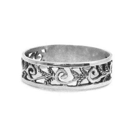 Sterling Silver Vine and Scroll Band
