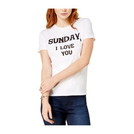 27b490a7a Dream Scene Womens Sunday, I Love You Graphic T-Shirt cwht XS - image ...
