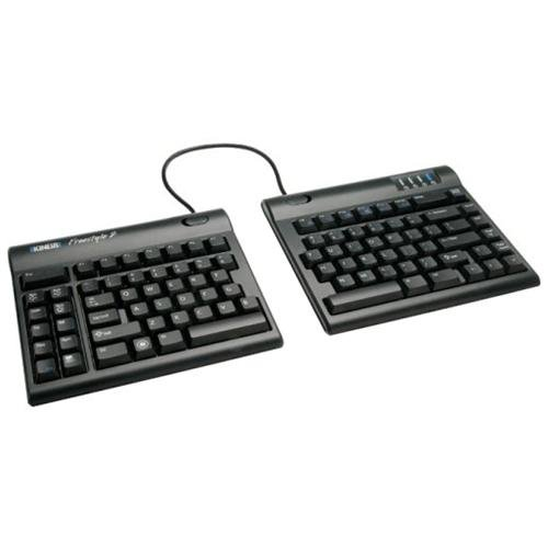 "Kinesis Freestyle2 Keyboard For Pc [9"" Inch Cable] With Vip3 Accessory Installed - Cable - Black - Usb - English [us] - Computer (kb820pb-us)"