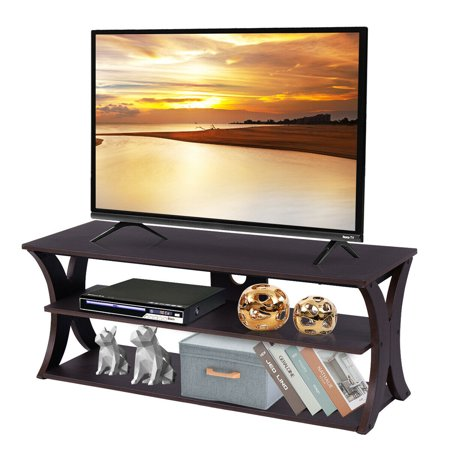Costway 3-Tier TV Stand Entertainment Center Media Console Furniture Storage Cabinet ()