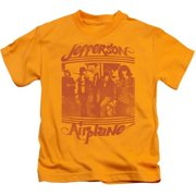Trevco Jefferson Airplane-Group Photo Short Sleeve Juvenile 18-1 Tee, Gold - Large 7
