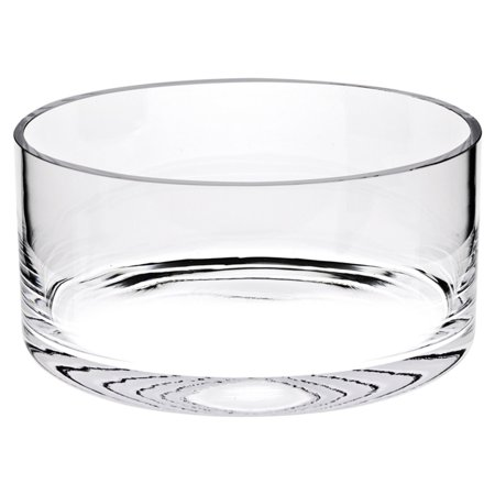 Badash Crystal Manhattan Lead Free Crystal Classic Cylinder Decorative Bowl ()