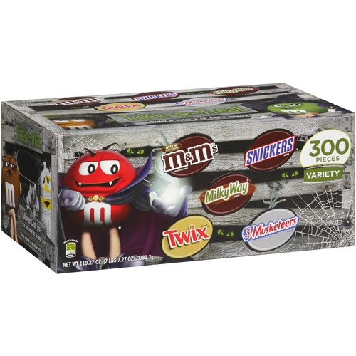 Mars Halloween Candy Variety Pack, 300 count, 119.27oz