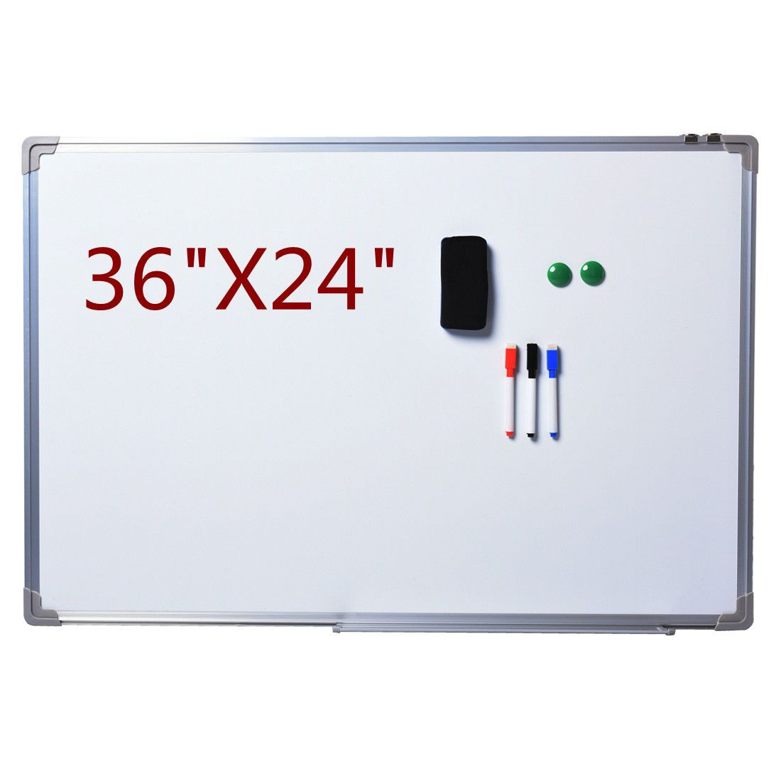 "NEW Single Side Magnetic Writing White Board 36"" x 24"" Office School Dry Erase"