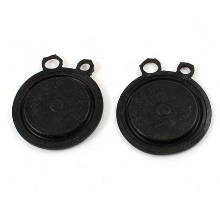 Unique Bargains Black Water Heater Round Rubber Diaphragms Seal Gasket 55 mm Dia 2 Pcs