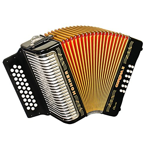 Hohner Button Accordion Corona II Classic FBbEb, With Gig Bag, Straps And Adjustable Bass... by Hohner