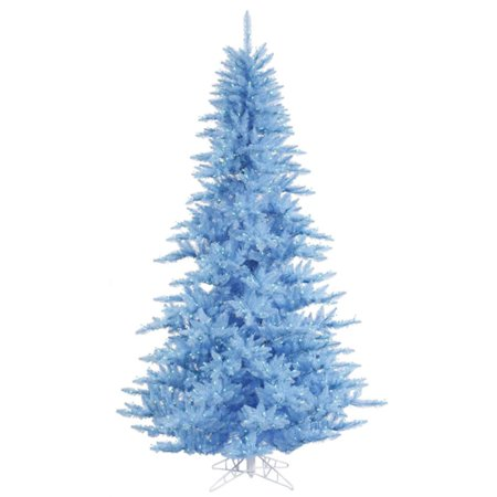 14' Pre-Lit Sky Blue Fir Artificial Christmas Tree - Blue Lights