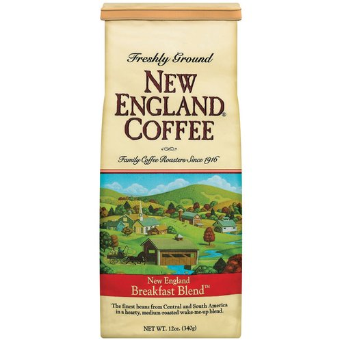 New England Coffee Freshly Ground 100% Arabica Coffee New England Breakfast Blend, 12 oz