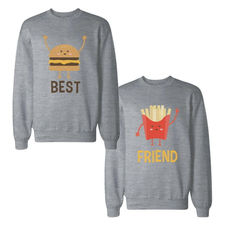 Burger And Fries Best Friend BFF Sweatshirts Matching Sweat