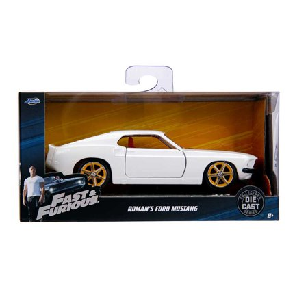 Fast & Furious: Roman's Ford Mustang (White) 1/32