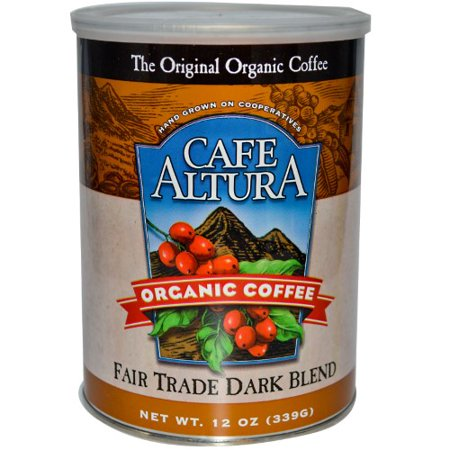 Caf? Altura Organic Fair Trade Dark Roast Ground Coffee, 12 Oz Organic Fair Trade