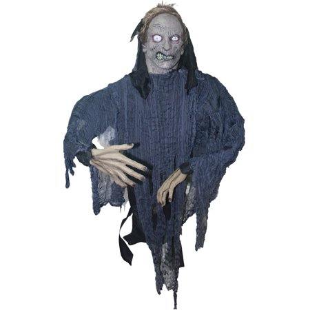 Grey Zombie Hanging Prop - Life Size Zombie Props