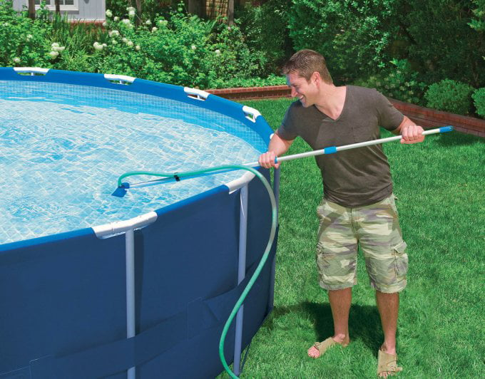 Intex Cleaning Maintenance Swimming Pool Kit w/ Vacuum Skimmer & Pole |  28002E - Walmart.com
