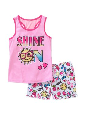 e519a9df26 Product Image Girls  Graphic Shine On Pajama Sleep Tank and Shorts Two-Piece  Set